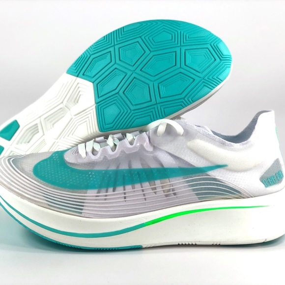size 40 0c128 37ab9 Nike Zoom Fly SP London White Rage Green Teal